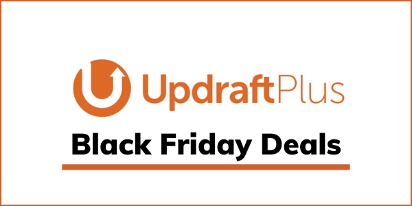 UpdraftPlus Black Friday